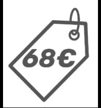 68 Euros Icono